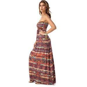 Sky Palmer Strapless Maxi Dress Sz S